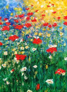 286 Flower from heaven 90 x 70 cm
