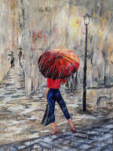287 Regn med mig  90 x 70 cm