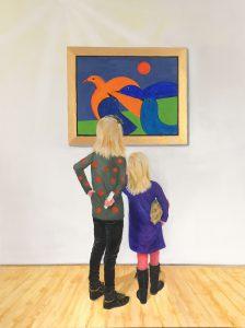 313 Museumsbesøg 80 x 60 cm kr. 3500