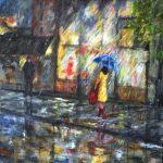 323 Om mandagen i regnvejr 80x100cm