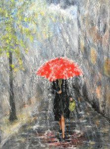 333 Rød Paraply 60x80 cm