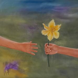 Tilgivelse 80 x 80 cm