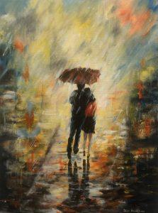 377 Walking In The Rain 60x80  kr 3500,-