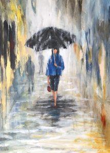 396 Black umbrella  Kr. 3800