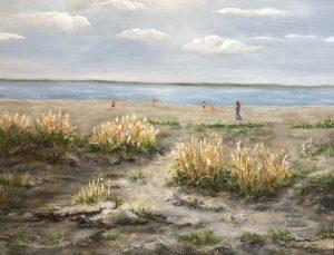 408 Sommerdag ved stranden 70x90 cm kr. 4500