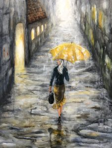 411 Gul paraply 60 x 80 cm  kr. 3900
